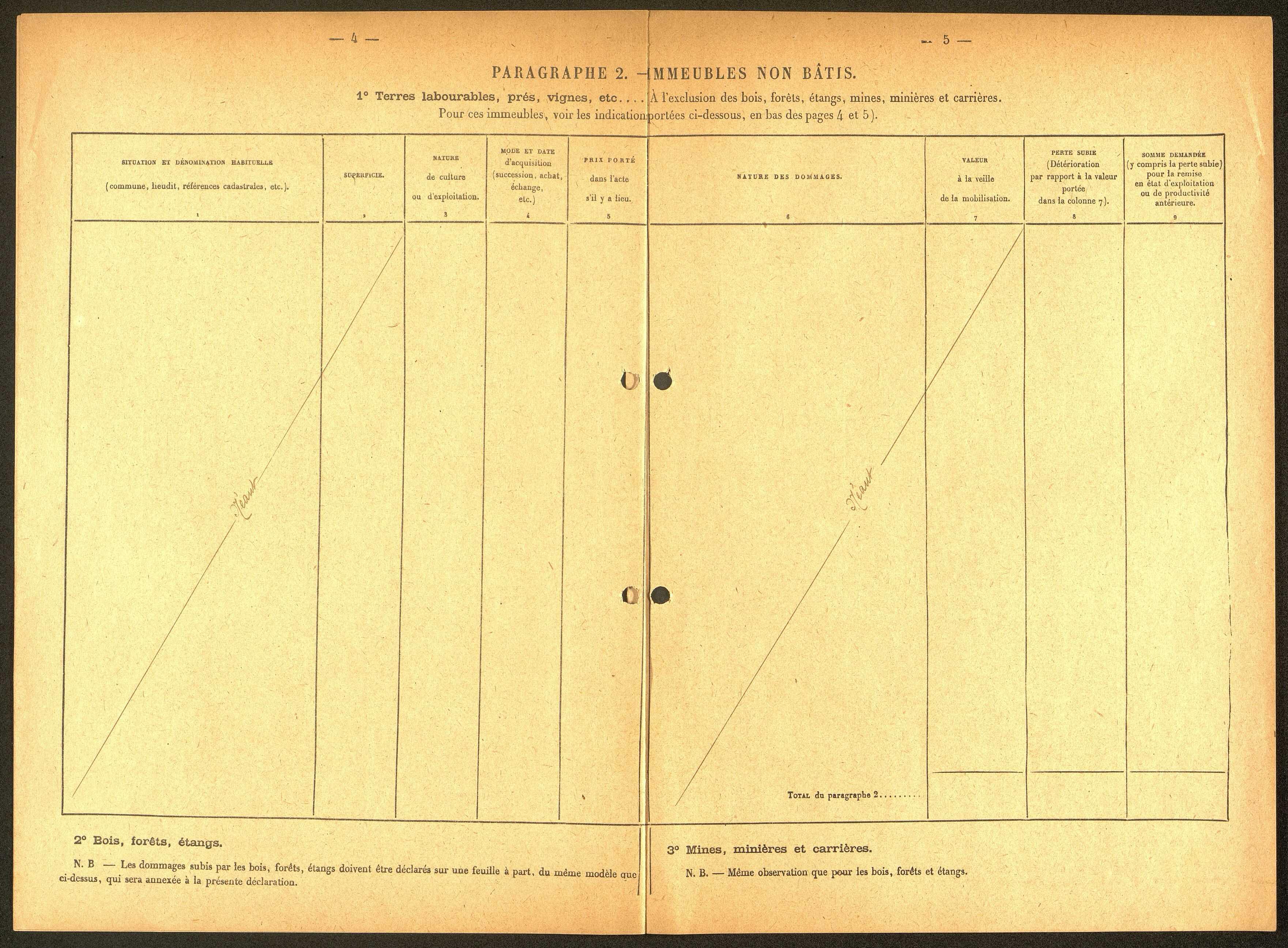 Ham. Demande d'indemnisation des dommages de guerre : dossier Ville de Ham (Théâtre)