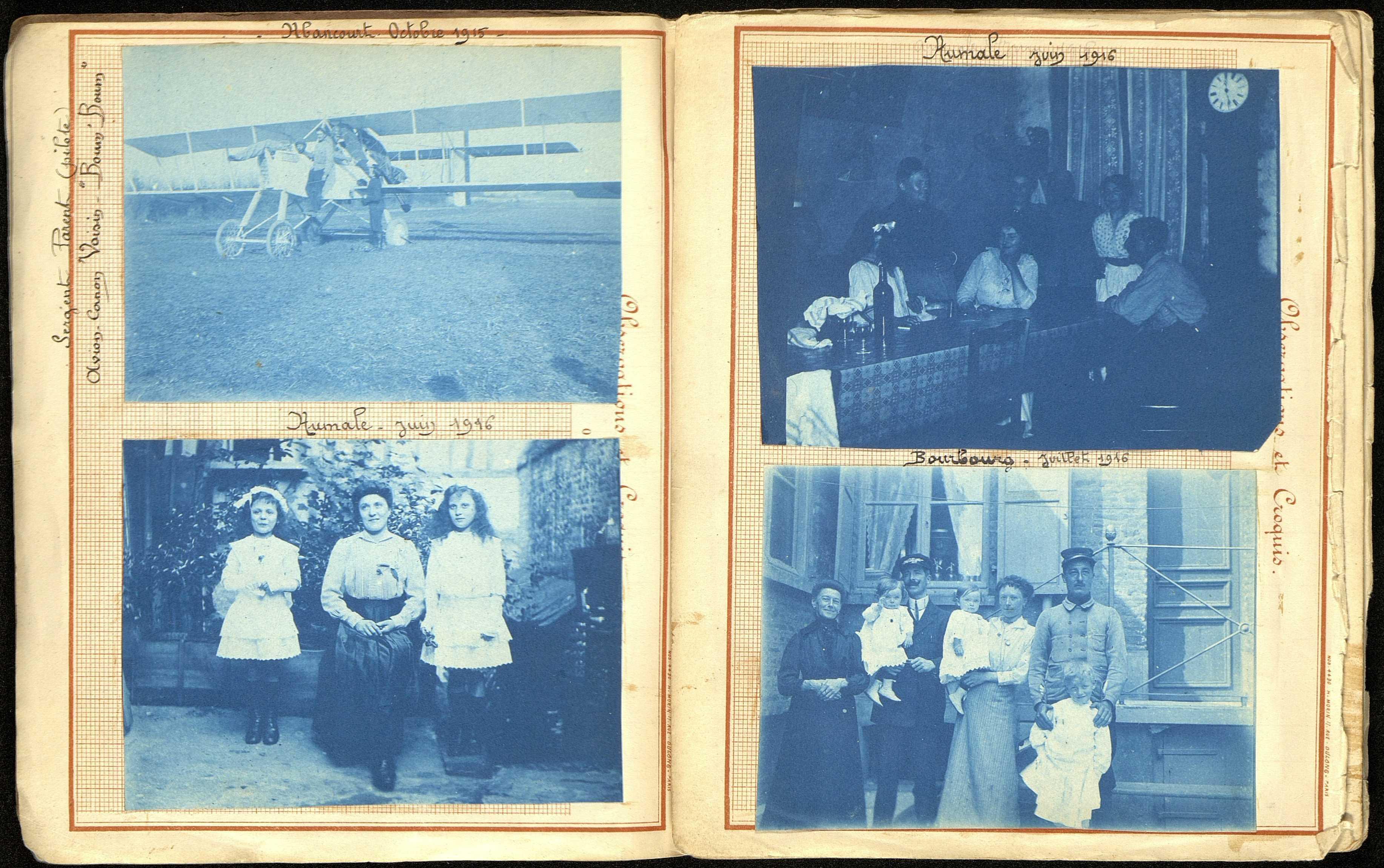 Album photographique constitué sur un cahier de notes techniques de Louis Paul Morin