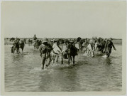 WITH THE TROOPS IN MESOPOTAMIA. TRANSPORT CROSSING THE DIALA
