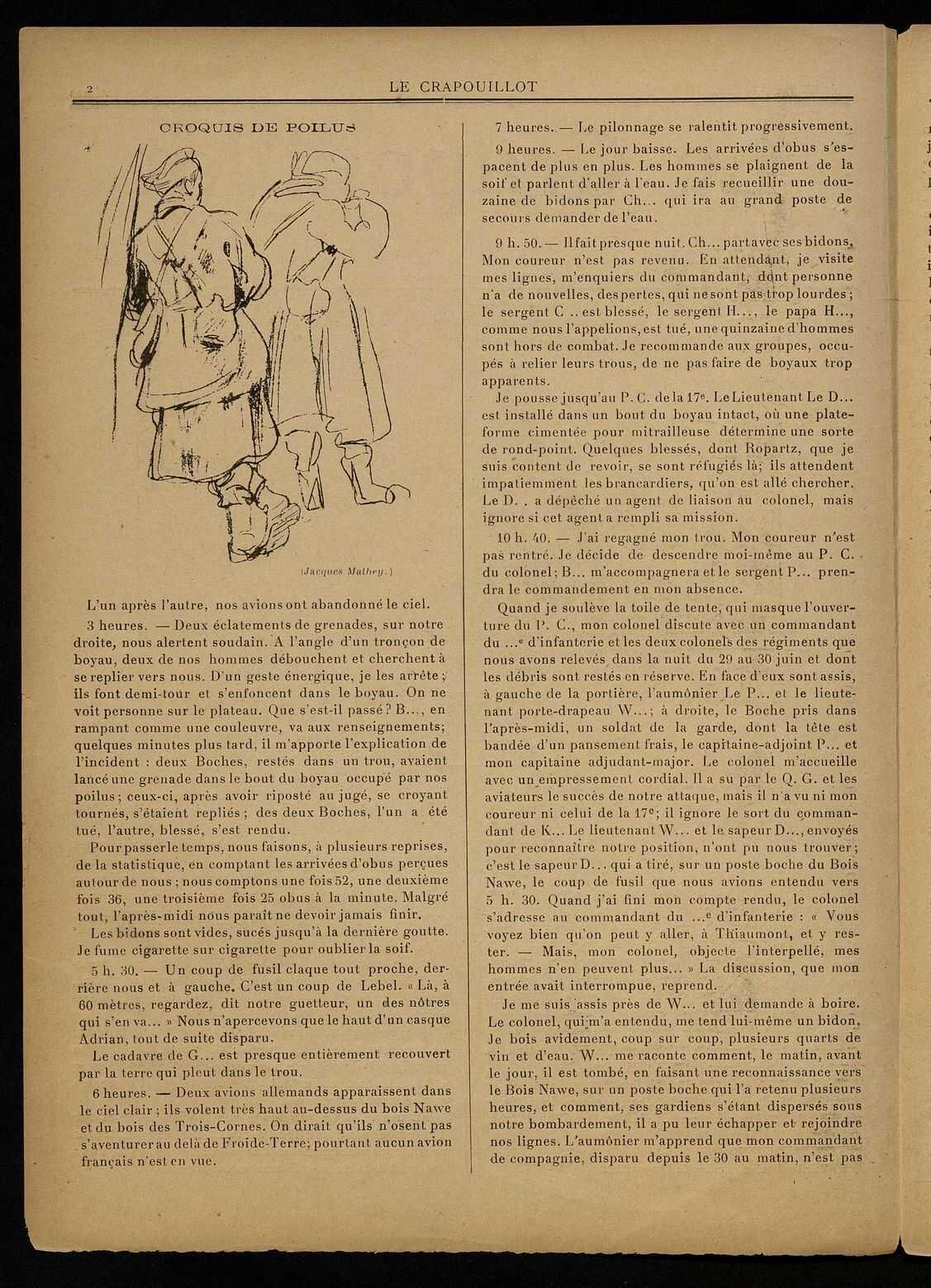 LE CRAPOUILLOT. CARNET D'UN OFFICIER A VERDUN