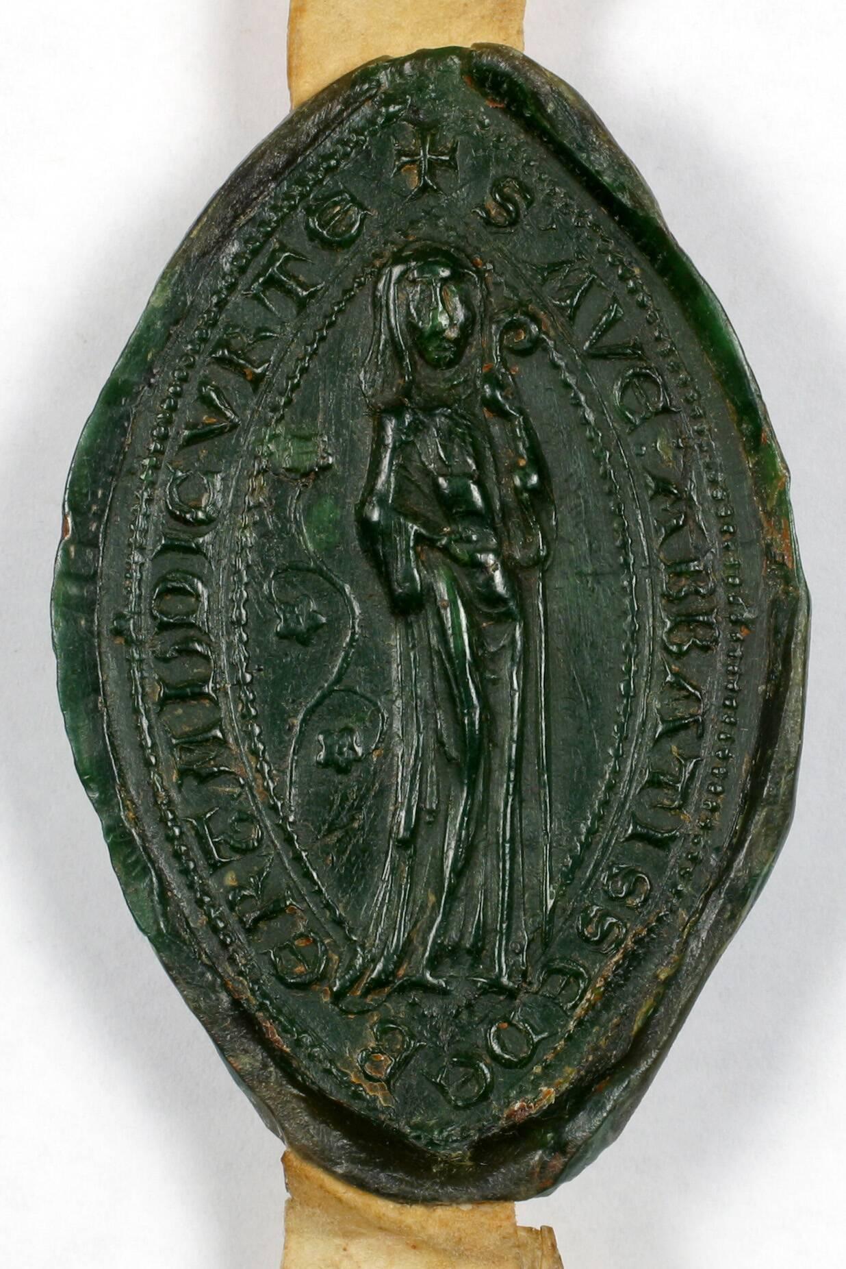 Sceau - Ava, abbesse de Bertaucourt