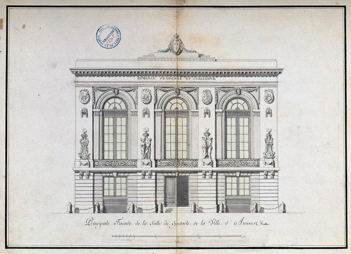 Principale facade de la salle de spectacle de la ville d'Amiens