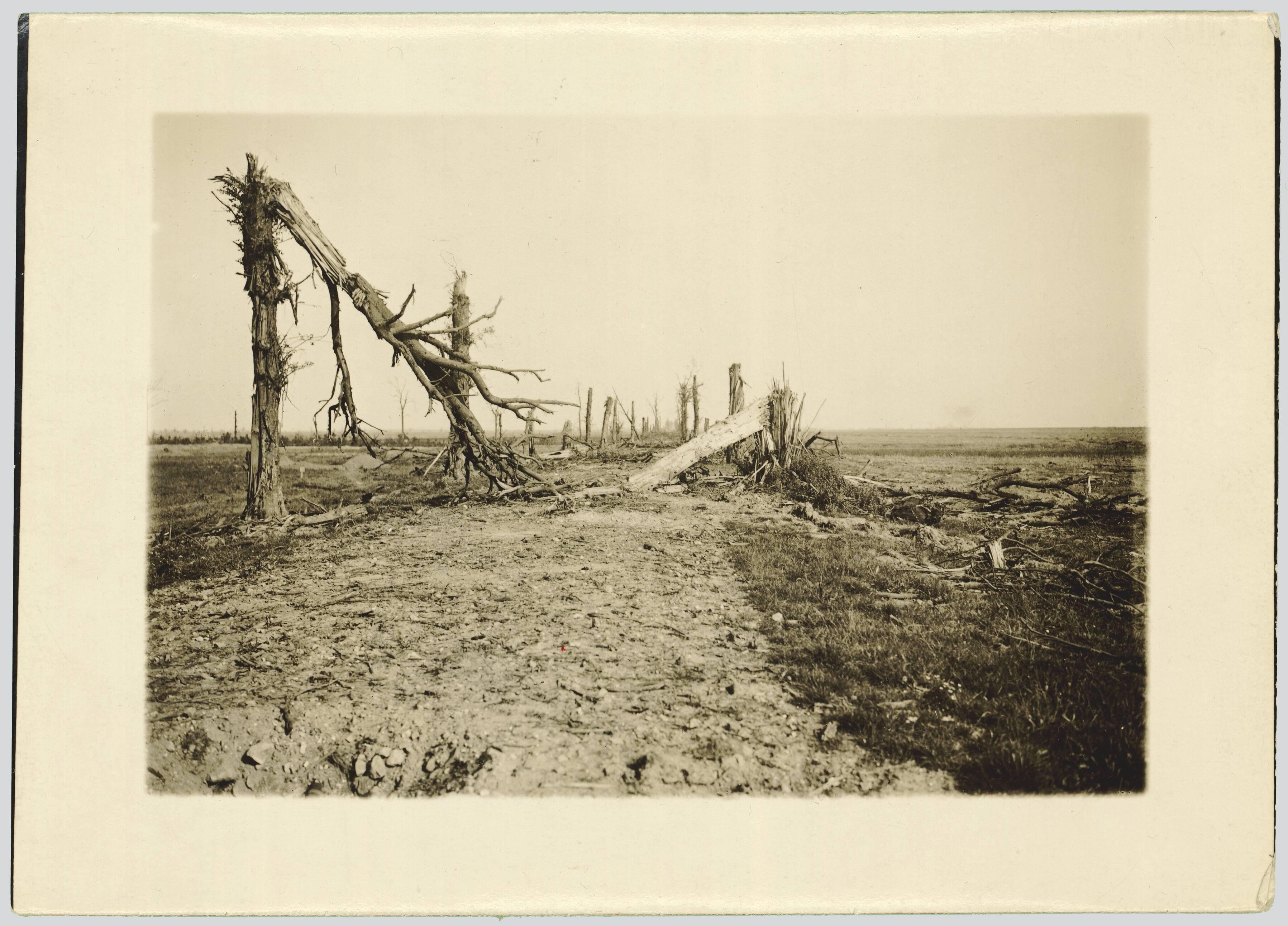 ROUTE NATIONALE D'AMIENS A SAINT-QUENTIN. ENTRE BELLOY-EN-SANTERRE ET BERNY-EN-SANTERRE. SEPTEMBRE 1916