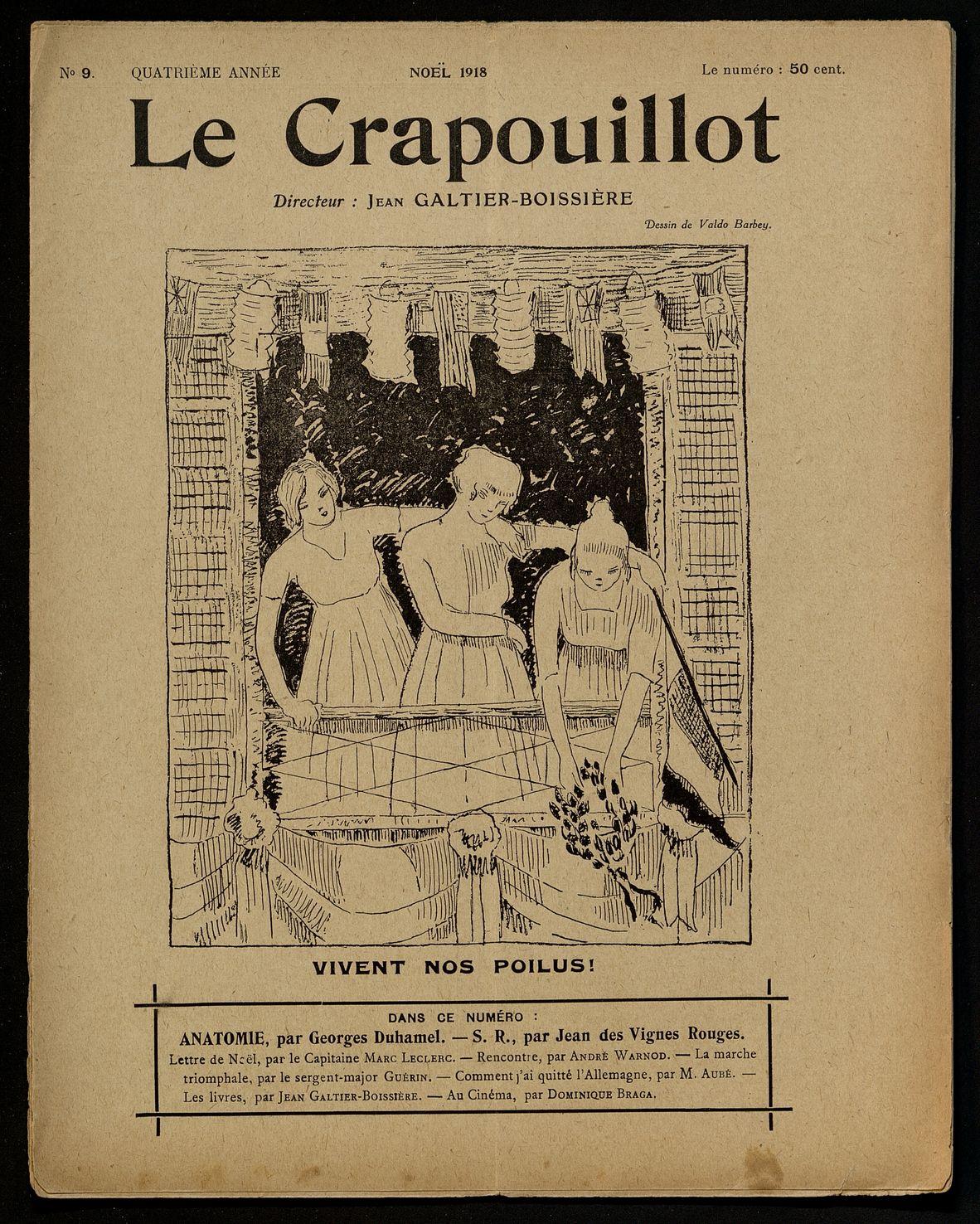 LE CRAPOUILLOT. ANATOMIE PAR GEORGES DUHAMEL