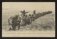GUERRE 1914-1915. INFANTERIE FRANCAISE. CYCLISTES EN ACTION. FRENCH INFANTERY. CYCLISTS FIRING