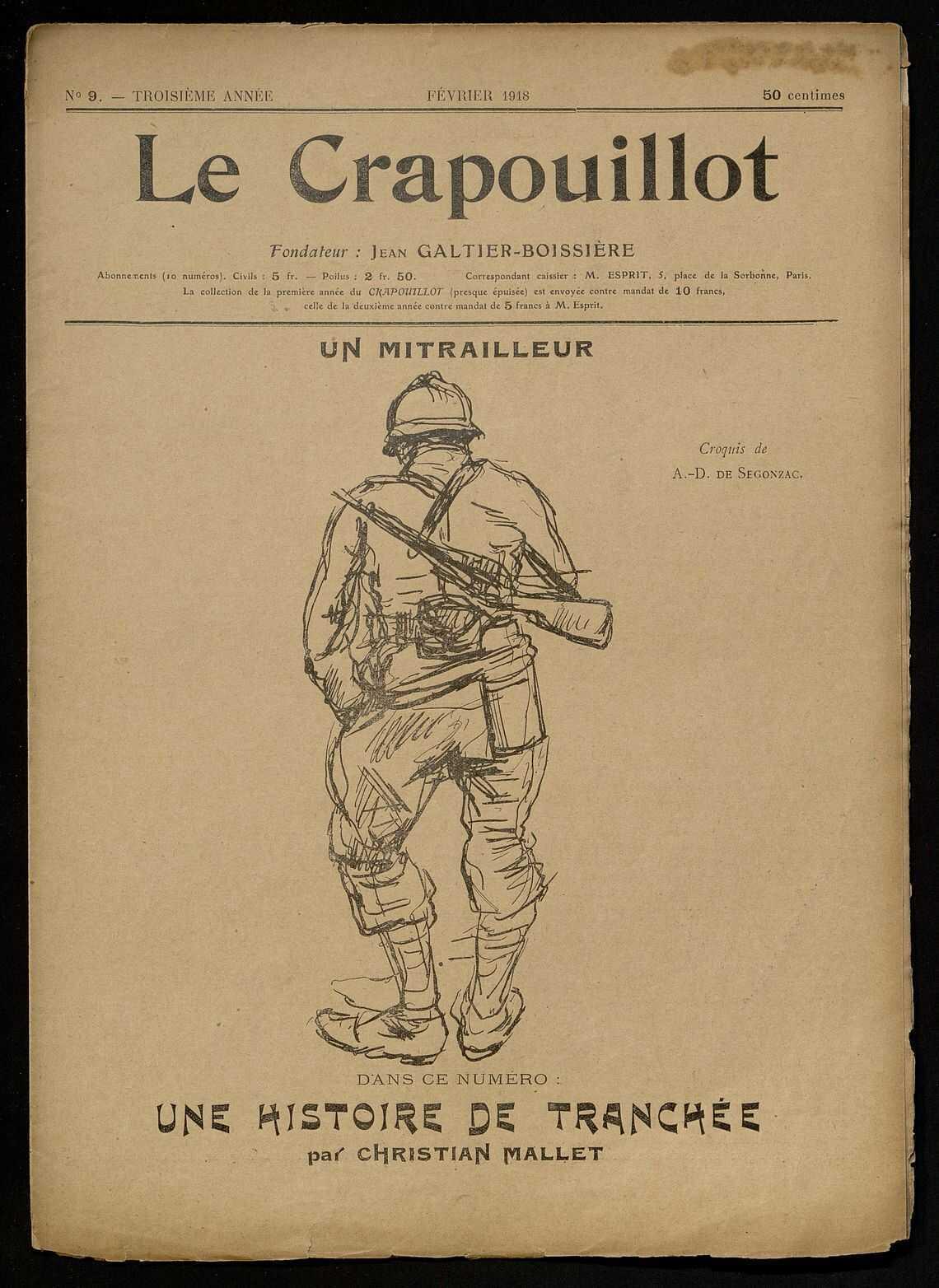 LE CRAPOUILLOT. UNE HISTOIRE DE TRANCHEE