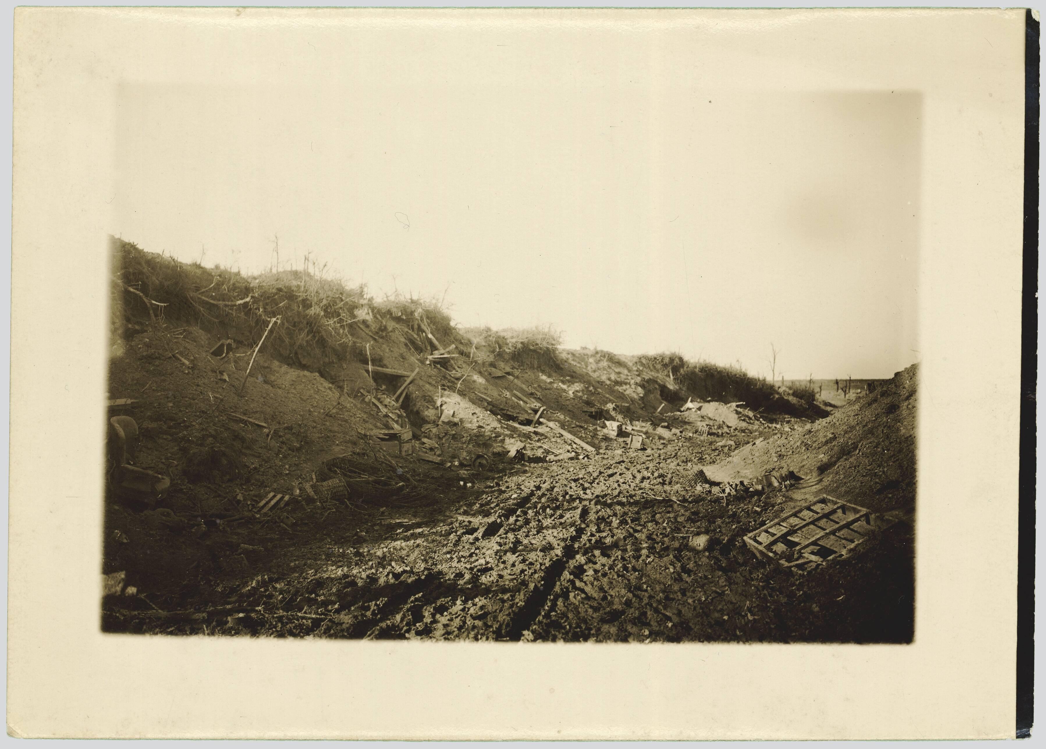 CHEMIN CREUX DE BERNY-EN-SANTERRE A BELLOY-EN-SANTERRE. SEPTEMBRE 1916
