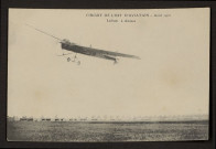 CIRCUIT DE L'EST D'AVIATION. AOUT 1910. LATHAM A AMIENS
