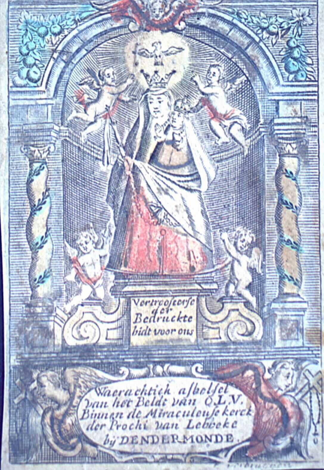 Image pieuse dédiée à  la Vierge Marie.