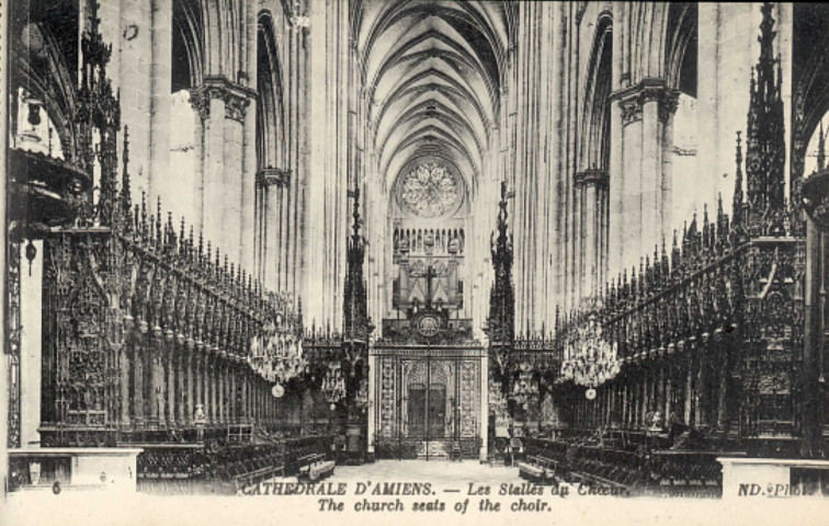 Cathédrale d'Amiens - Les Stalles du Choeur - The Church seats of the choir