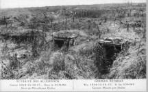 Retraite des allemands - Guerre 1914-15-16-17... - Dans la Somme - Abris de mitrailleuses boches - German retreat - War 1914-15-16-17... - In the Somme - German maxim-gun shelter