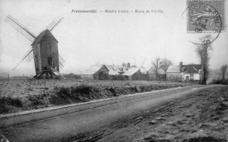 Moulin Lottin. Route de Friville