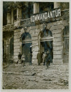 FIELD MARSHAL SIR DOUGLAS HAIG AND FRENCH PREMIER IN CAMBRAI STANDING ON THE STEPS OF THE OLD GERMAN HEADQUATERS