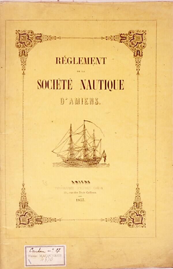 Règlement de la société nautique d'Amiens