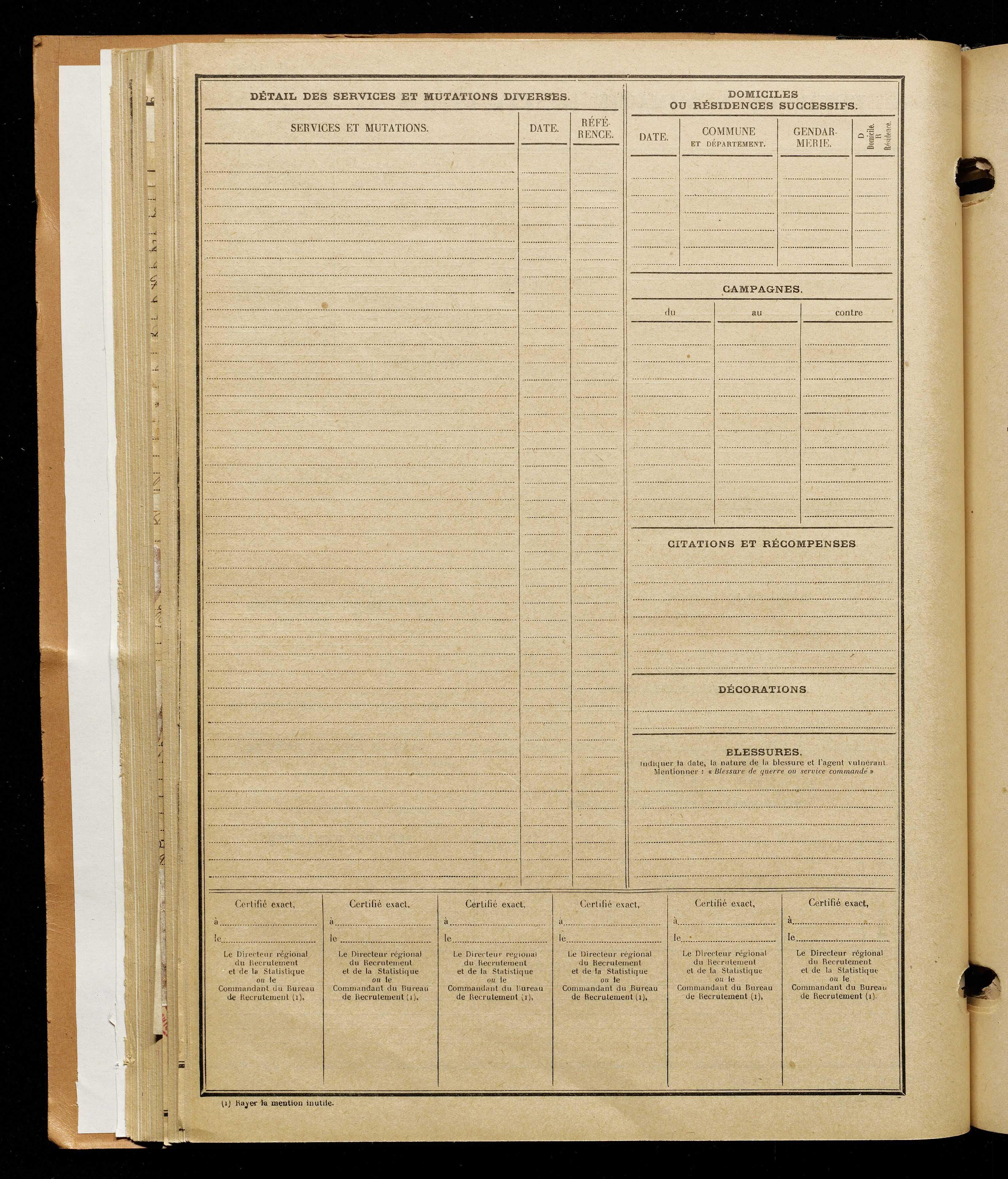 Deneuville, Ernest, né le 18 juillet 1893 à Amiens (Somme), classe 1913, matricule n° 1106, Bureau de recrutement d'Amiens
