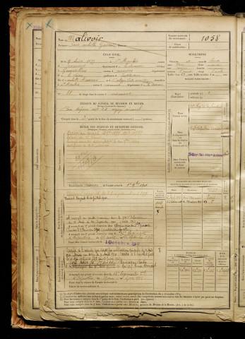 Malivoir Louis Achille Gaetan Ne Le 09 Aout 1877 A Saint Maulvis Somme Classe 1897 Matricule
