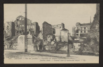 AMIENS. RUE DES JACOBINS. ENSEMBLE DES MAISONS BOMBARDEES. JACOBINS STREET. GENERAL VIEW OF BOMBARDED HOUSES