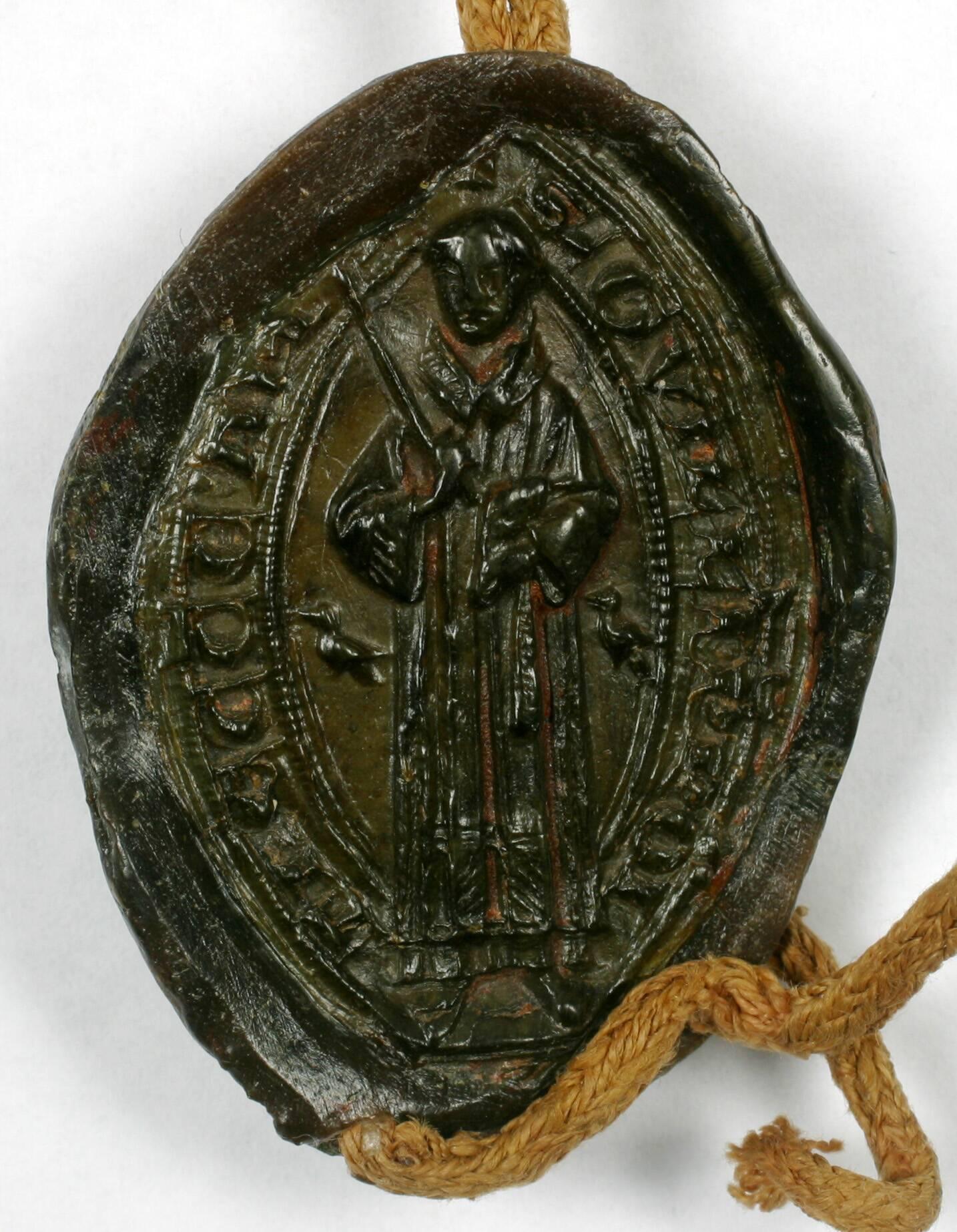 Sceau - Mello (Guillaume de), prévôt du chapitre d'Amiens