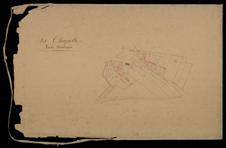 Plan du cadastre napoléonien - Lachapelle (Chapelle (la)) : section unique développement