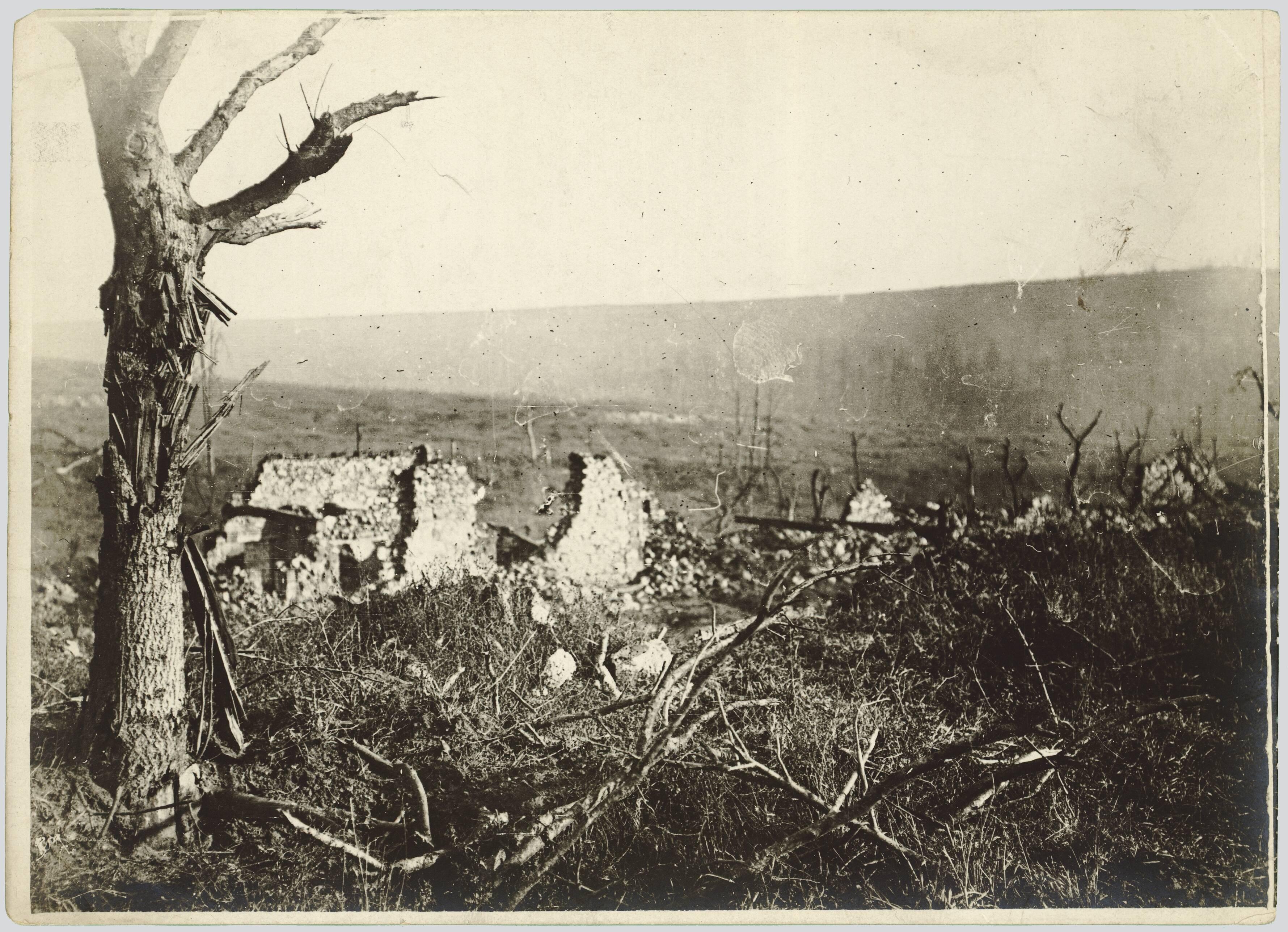 AISNE. SUD-OUEST DE COURTECON. LA FERME DES GRELINES. 13 NOVEMBRE 1917