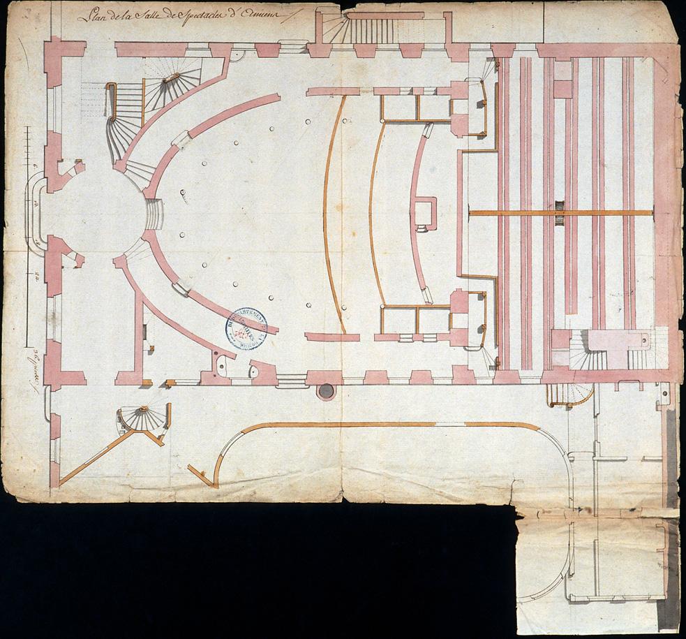 Plan de la salle de spectacle d'Amiens