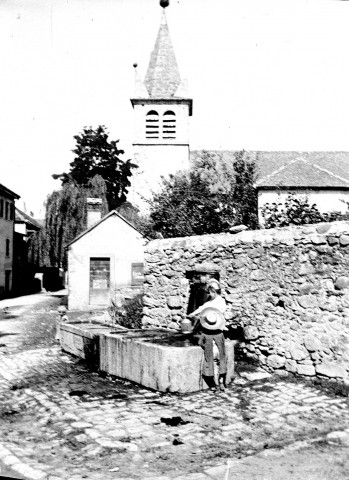 Scène rurale. La fontaine du village